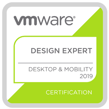 VMware View Design Expert badge