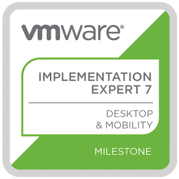 VMware View Implementation Expert badge