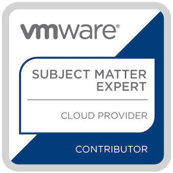 VMware SME cloud provider badge