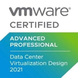 VMware Advance Profesional Data Center 2021 badge
