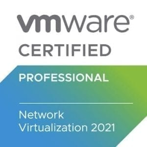 VMware Certified Network Virtualization 2021 badge